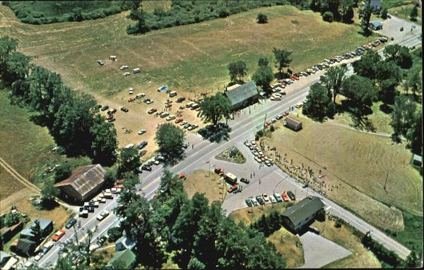 Aerial View Of Entrance To Equinox Sky Line Drive, Route 7 Manchester Vermont