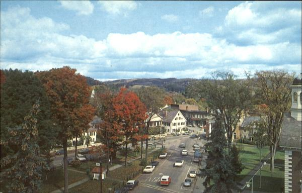 The Center Of Woodstock Vermont
