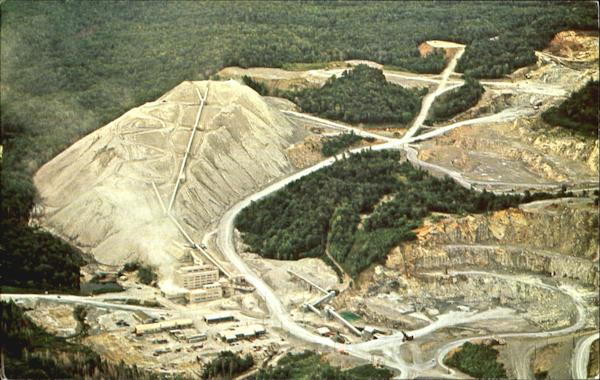 Aerial View Of The Ruberoid Company's Asbestos Mine And Mill, Eden and Lowell Eden-Lowell Vermont