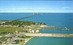 Aerial View Of Mackinaw City