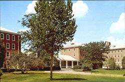 Lincoln Residence Hall, University of Illinois Postcard