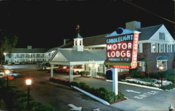 Candlelight Motor Lodge, 447 Main Street Cape Cod Postcard