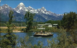 Menor's Ferry Crossing Snake River Jackson Hole Postcard