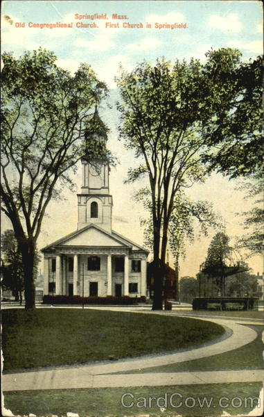 Old Congregational Church. First Church In Springfield Massachusetts