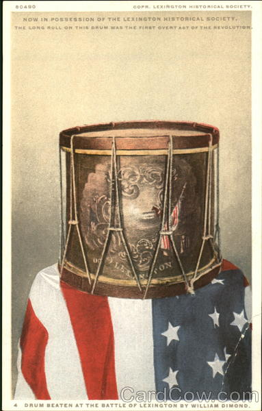 Drum Beaten At The Battle Of Lexington By William Dimond Massachusetts