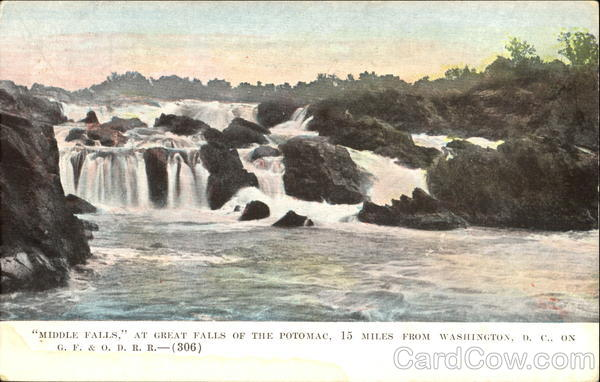 Middle Falls At Great Falls Of The Potomac Washington District of Columbia