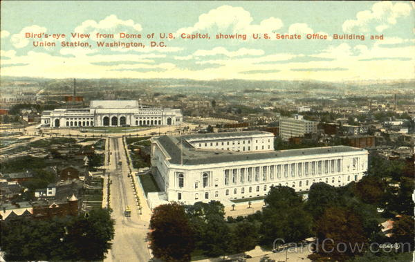 Bird's-Eye View From Dome Of U.S. Capitol Washington District of Columbia