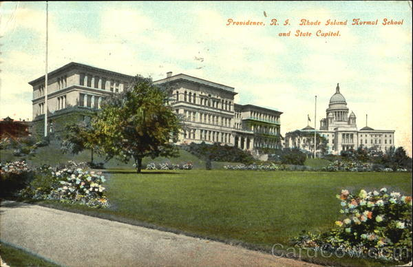 Rhode Island Normal School And State Capital Providence