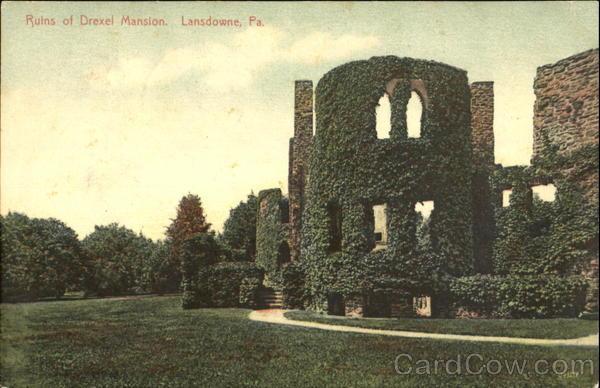 Ruins Of Drexel Mansion Lansdowne Pennsylvania