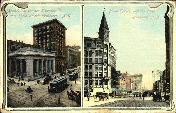 South West Corner Exchange And Main Street Rochester New York
