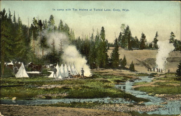 In Camp With Tex Holms At Turbid Lake Cody Wyoming