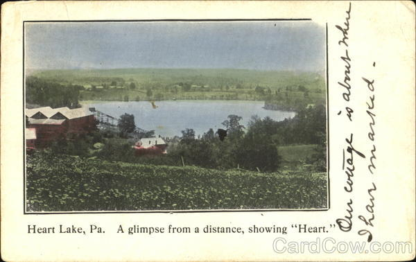 A Glimpse From A Distance Showing Heart Heart Laek Pennsylvania