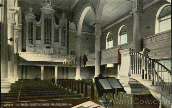 Interior Christ Church Philadelphia Pennsylvania