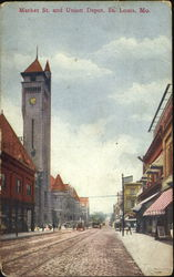 Market St. And Union Depot Postcard