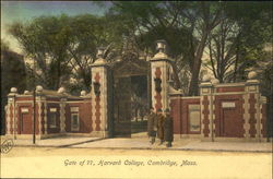 Harvard College, Gate of 77 Postcard