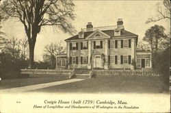 Craigie House Postcard