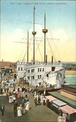 The Cabrillo Ship Hotel Postcard