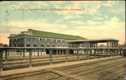 C., B. & Q. Passenger Station And Train Sheds