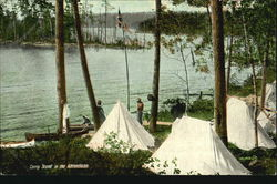 Camp Scene In The Adirondacks