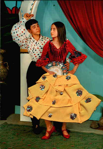Spanish Dancers Embroidered Costumes