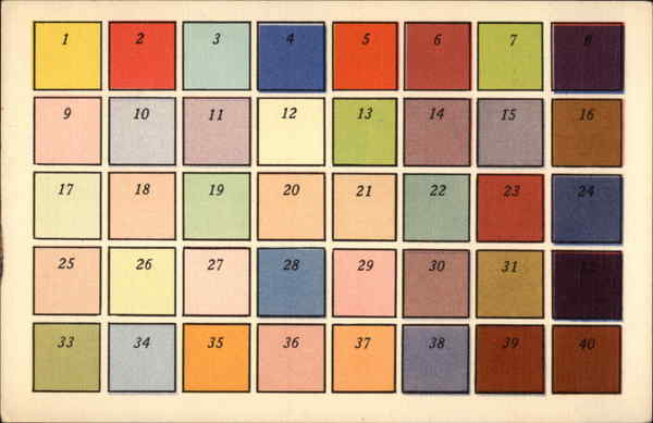 Rare FULLCOLOR Color Chart Advertising