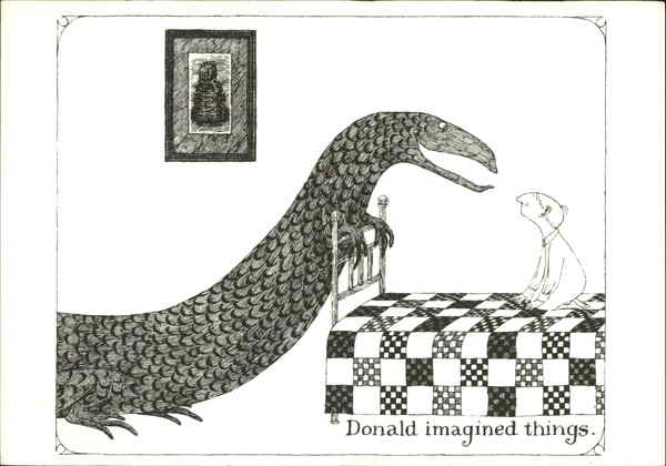 Donald imagined things Edward Gorey Art