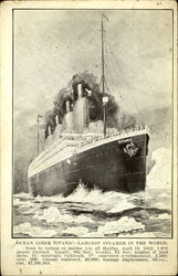 Ocean Liner Titanic Largest Steamer in the World 1912