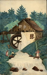 Painitng of Rural Scene with Watermill