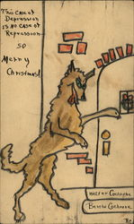 Drawing of Wolf at the Door