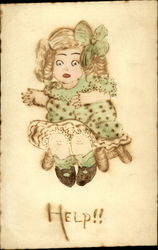 Drawing of a Liitle Girl in a Green Dress