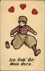 "Dutch Boy With Heart Motif- ""I Give You My Heart"""