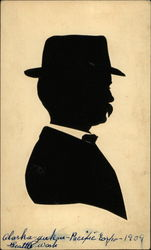 Silhouette of Man with Hat