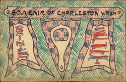 Hand-drawn plaque, pennants