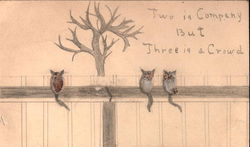 Three Kittys on a Fence Made from Pussywillows