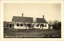 Residence of Lester P. Simmons, formerly Dr. Arnold's