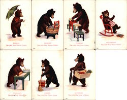 Busy Bears Days of Week Series (Set of 7 Cards)