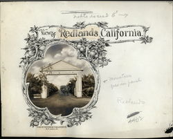 Rare Layout Board for Souvenir Folder - Views of Redlands Other Ephemera