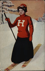Harvard Woman on Skis