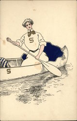 Suffolk University Law School Woman in Canoe