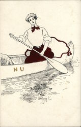 Northwestern University - girl in canoe