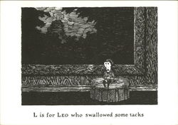L is for Leo who swallowed some tacks