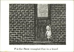 P is for Prue Trampled Flat in a Brawl