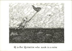 Q is for Quentin who Sank in a Mire