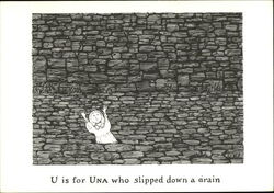 U is for Una who Slipped Down a Drain