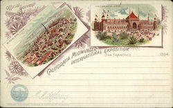 Rare 1894 California Midwinter International Exposition