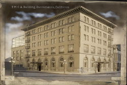 Rare Original Postcard Art - YMCA Building Production Card