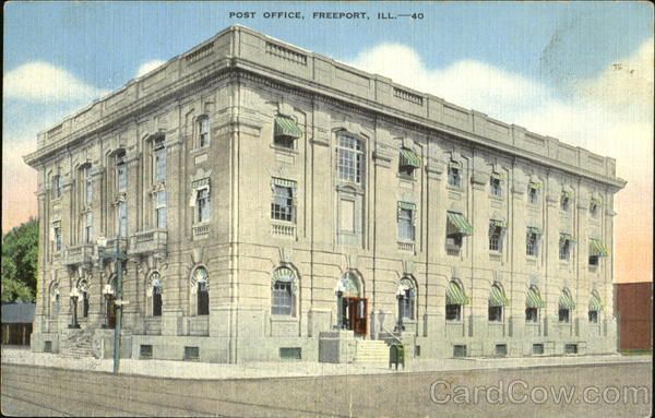Post Office Freeport Illinois