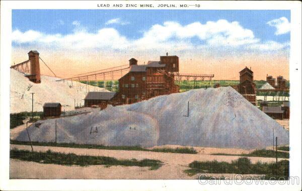 Lead and Zinc Mine Joplin, MO Postcard