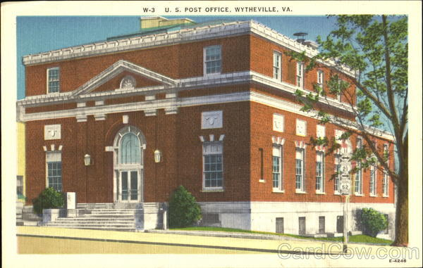 U. S. Post Office Wytheville Virginia