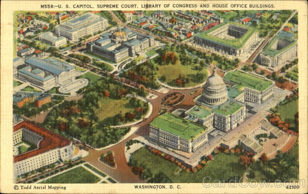 U. S. Capitol Supreme Court Library Of Congress And House Office Buildings Washington District of Columbia